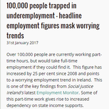 Newsfeed talk to @SocialJusticeI about concerning trends in their employment monitor report #ireland