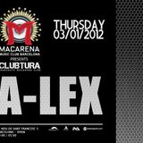 A-Lex dawn of 2013 at Macarena club bcn 03/01/13
