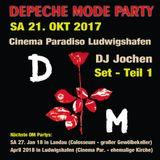 Depeche Mode Party: Teil 1 - 21.10.2017 - DJ Jochen @ Cinema Paradiso Ludwigshafen