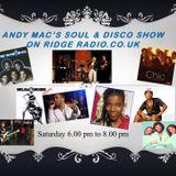 Andy Mac's Soul & Disco Show on Ridge Radio 4th Feb 2017