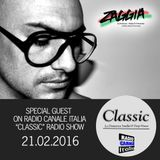 ▶ ZAGGIA ◀ RADIO CANALE ITALIA - CLASSIC Radio Show - 21.02.16 FREE DOWNLOAD