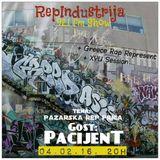 RepIndustrija Show 92.1 fm / br. 36 Tema: Pazarska rep prica Gost: Pacijent + Greece boom bap + XYU