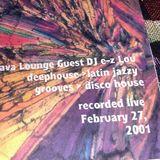 DJ EZ Lou at the Lava Lounge, Pittsburgh PA February 27 2001