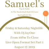 Live Set @ Samuel's At The Basketball Hall Of Fame 8-17-19 Part 1