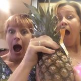 Rach and Rene find the pineapple.