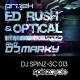 SpinzCycle Podcast 013 - projek Ed Rush, Optical & Marky Teaser Mix