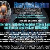 Heavy Rock Rapture June 20 2017 feat Rock Goddess and Humangod interviews & music