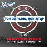 Jeudi 15 août 2013 - 19h - défi des 72h00 de radio non-Stop