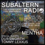 Mentha b2b Dubsworth b2b Tommy Lexxus - Subaltern Radio 14/04/2016 on SUB.FM