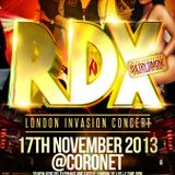 RDX London Invasion Concert Mix CD
