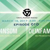 Vinyl Purist Radio Episode 010 - R4NS0M & Deinfamous