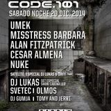 Lukas 3decks+EFX At CODE 101 Fabrik Madrid 21 12 2014 SPN