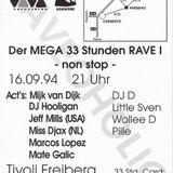 """RAVEOHOLIC"" 16.09.1994 im Tivoi Freiberg - Miss Djax..."