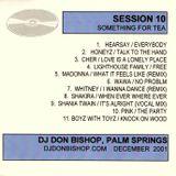 Session 10-Something For Tea-DJ Don Bishop December 2001