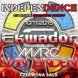 MARC VAN LINDEN @ Independence Day Ekwador Manieczki 10.11.2015 Czerwona Sala vol.2