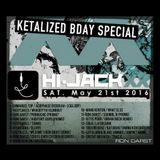 Ron Darst @ Hi-Jack XX Special Ketalized Birthday - Basic Club - 21.05.2K16 - Techno to Hardtechno