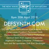 DEFSYNTH.COM's New Wave of Waveform Radio Show - 30th April 2018