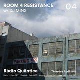 Room 4 Resistance #4 (26.04.2018) w/ guest mix by DJ Minx