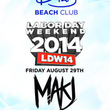 MAKJ - live at Drais Beach Club, Las Vegas - 29-Aug-2014