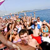 A tropical set at sea with happy people!!
