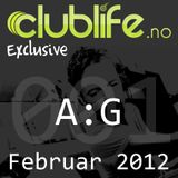 Clublife.no Exclusive #001 - A:G, Februar 2012