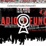 Intervención artística del Colectivo Fin De Un Mundo para el 24 de marzo