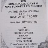 Sean French,Robbie Vincent & Chris Hill Live in St Tropez Thursday 27th May 1982