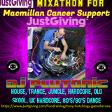 DJ Plutonic - mixathon for macmillan Cancer Support. part 1. 80's Pop and Dance.