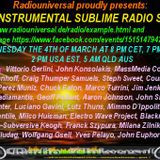 Instrumental Sublime Radio Show March 4th 2015