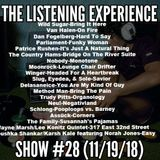 """""""The Listening Experience"""" podcast #28 (November 19, 2018)"""