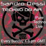 Sandro Dessì   ** Techno On Air  **    Live On London Pirate Radio Sunday 18  June  2017
