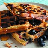 Blueberry Waffles & Syrup