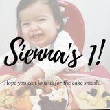 Happy 1st birthday Sienna!