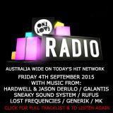 onelove radio Friday September 4th 2015