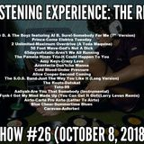 The Listening Experience: the return (show #26: October 8, 2018)