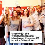 Basement83 meet Riskology on the 1Love show @ Voice fm