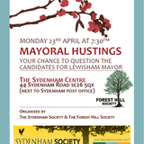 Lewisham Mayoral Hustings held on 23rd April 2018 at the Sydenham Centre