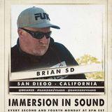 BrianSD (San Diego, CA) - Immersion In Sound 038 (Live on www.dancegruv.net)