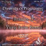 Dirk - Host Mix - The Diversity Of Progressive 18 (18th Feb. 2015) on Deep House Parade