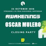 Oscar Mulero - Live @ Awakenings Closing Party (Gashouder-Amsterdam, ADE 2016) (23.10.2016)