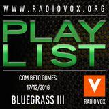 PlayList Vox 52 - Bluegrass III
