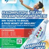 100Plus Badminton Team Championship with Vincent Chong, GM of Paradigm Mall