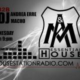 Essential House - Episode 1 Jenuary 2017 - Andrea Erre B2b Macho dj