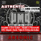 ARSONIC Liveset @ AUTHENTIC invite UMD system (Strasbourg) 2.9.2oI6