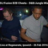 DJ:Fusion B2B Cheeta live at Regenerate, Ipswich (26 Feb 2016)