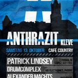 Drumcomplex @ Anthrazit Cleve (Closing Set) 13.10.2012
