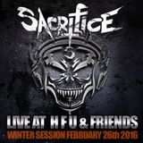 SACRIFICE LIVE AT H.F.U.-STATION MOSCOW 26.02.2016 WINTER SESSION