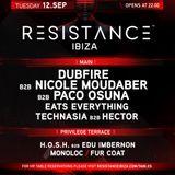 Dubfire B2B Nicole Moudaber B2B Paco Osuna — Live @ Resistance Ibiza, Closing Party (12.09.17)