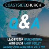 Panel with Host Lead Pastor Mark Minturn with Guest Kathy Foxley