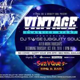 Vintage After-work Thursday Preview with DJ T-Wise (Ubiquity Soul) [Revised]